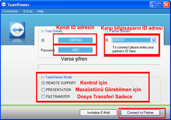 Team Viewer Proğram Arayüz